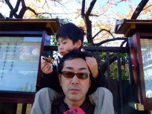 息子と浅草寺